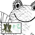 Pattern frog Hella