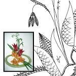 Klöppelbrief Frühlingsblume