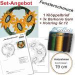 KB Fensterschmuck + 3x Garn