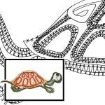 Klöppelbrief Schildkröte
