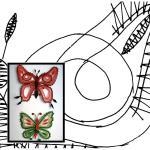 Klöppelbrief Schmetterlinge 3