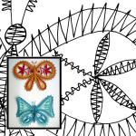 Klöppelbrief Schmetterlinge 1