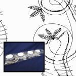 Klöppelbrief Spitze für Kerzenhalter