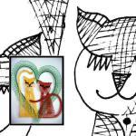 Klöppelbrief Katzenliebe
