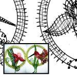 Pattern hummingbird + flower