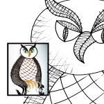Pattern owls breakfast
