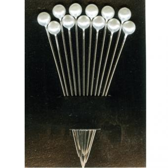 Glass Head Pins - long
