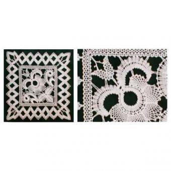 Klöppelbrief Decke 25 x 25 cm