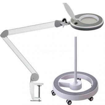 LED-Lupenleuchte dimmbar + Rollstativ