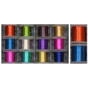 Draht farbig, 12 Spulen