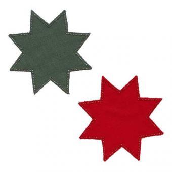 Stoffdeckchen mit Lochrand - Stern
