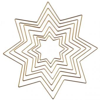 Metal Frame Star, gold-plated