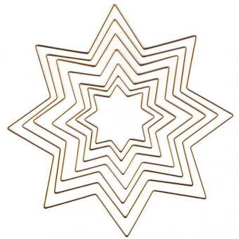Metallrahmen Stern, vergoldet