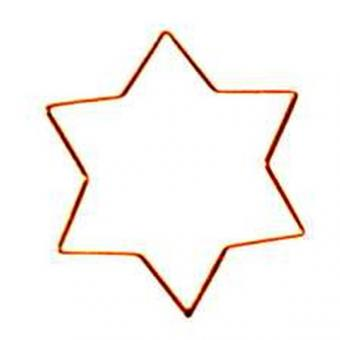 Metal Frame Star 6-pointed, gold-plated