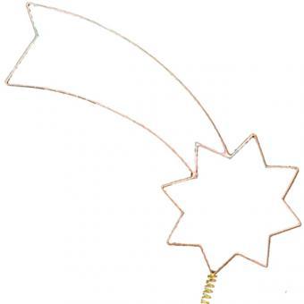 Christbaumspitze Komet, vergoldet