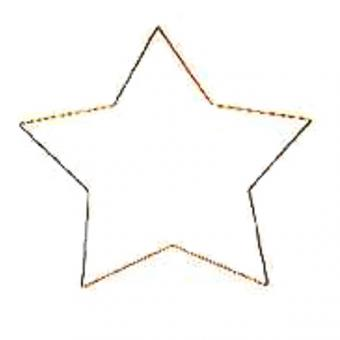 Metal Frame Star 5-pointed, gold-plated