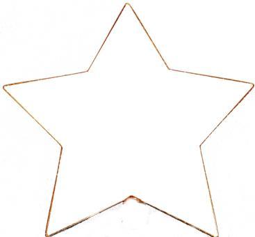 Metallrahmen Stern 5-Zack, vergoldet