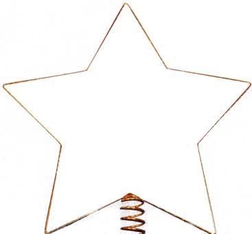 Christbaumspitze Stern 5-Zack, vergoldet