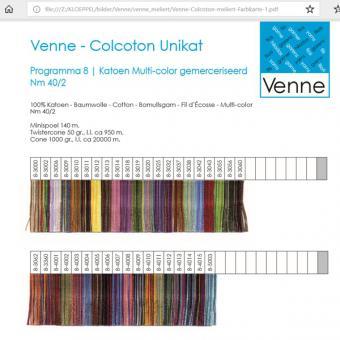 Venne Color card multicolor