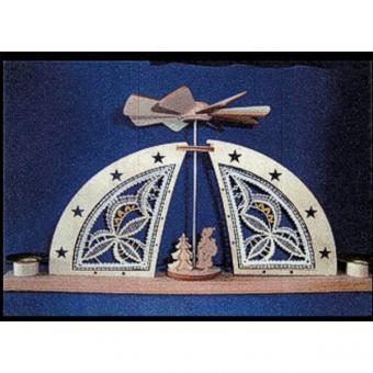 Holzrahmen Mini-Bogen mit Pyramide