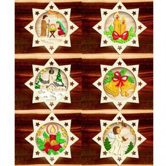 Holzhänger Weihnachten Farbig