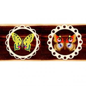 Wooden Hanger Butterfly, color