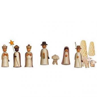 Holzminiaturen zum Stellen - Weihnachten