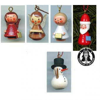Wooden Miniatures to Hanging - Christmas