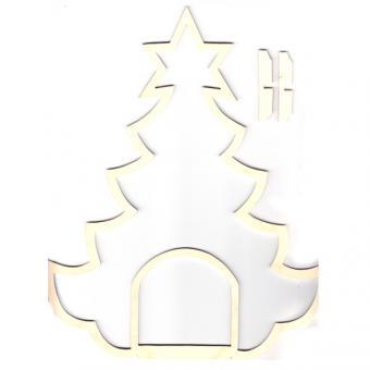 Holzrahmen Weihnachtsbaum mit Innenraum