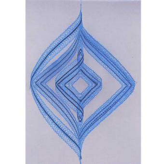 Set Windspiel - Klöppelbrief und Material hellblau