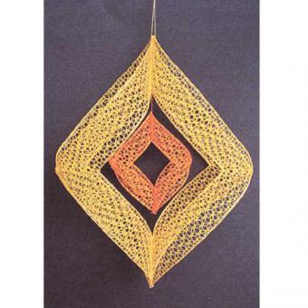 Set Windspiel - Klöppelbrief und Material gelb-orange