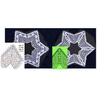 Klöppelbrief Sterne 18 + 20