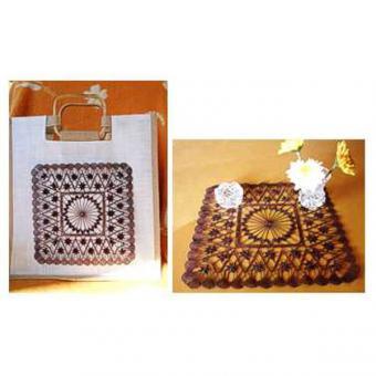 Klöppelbrief für Tasche oder Deckchen