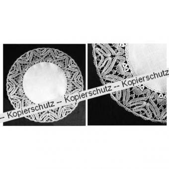 Klöppelbrief Decke mit Einsatz