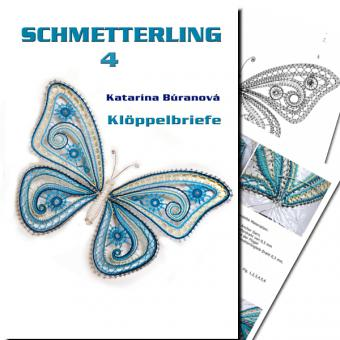 Klöppelbrief Schmetterling 4