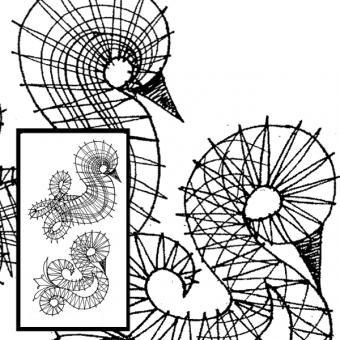 Klöppelbrief 2 Küken