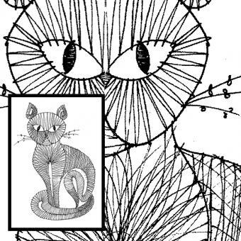 Klöppelbrief Katze 1