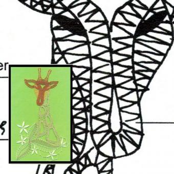 Klöppelbrief Giraffe