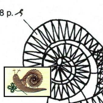 Klöppelbrief Schnecke