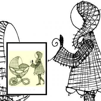 Pattern Child with Buggy