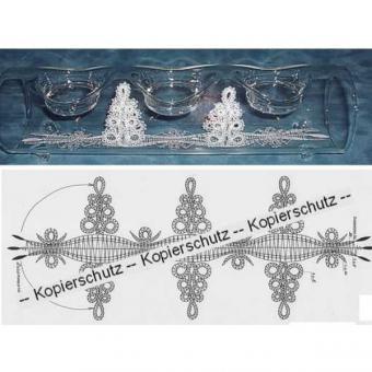 "Klöppelbriefe ""Bäume"" für U-Boot"