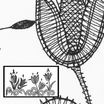 Klöppelbrief Tulpen