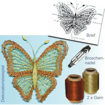 Brosche Schmetterling SET