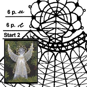 Klöppelbrief Schutzengel 3