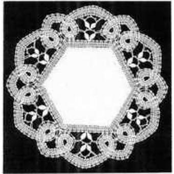 Klöppelbrief Decke rund  25 cm
