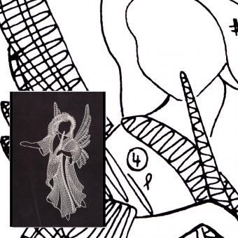 Klöppelbrief Engel