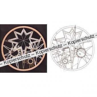 Klöppelbrief Sterne im Ring (Ø: 19 cm)