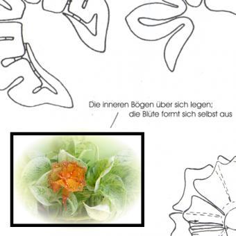 Klöppelbrief Blüten