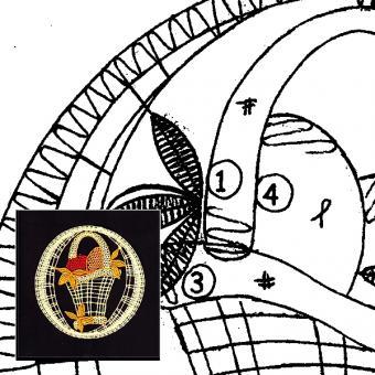 Klöppelbrief Osterkorb