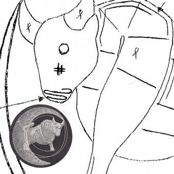 Klöppelbrief Stier (Ø: 12 cm)